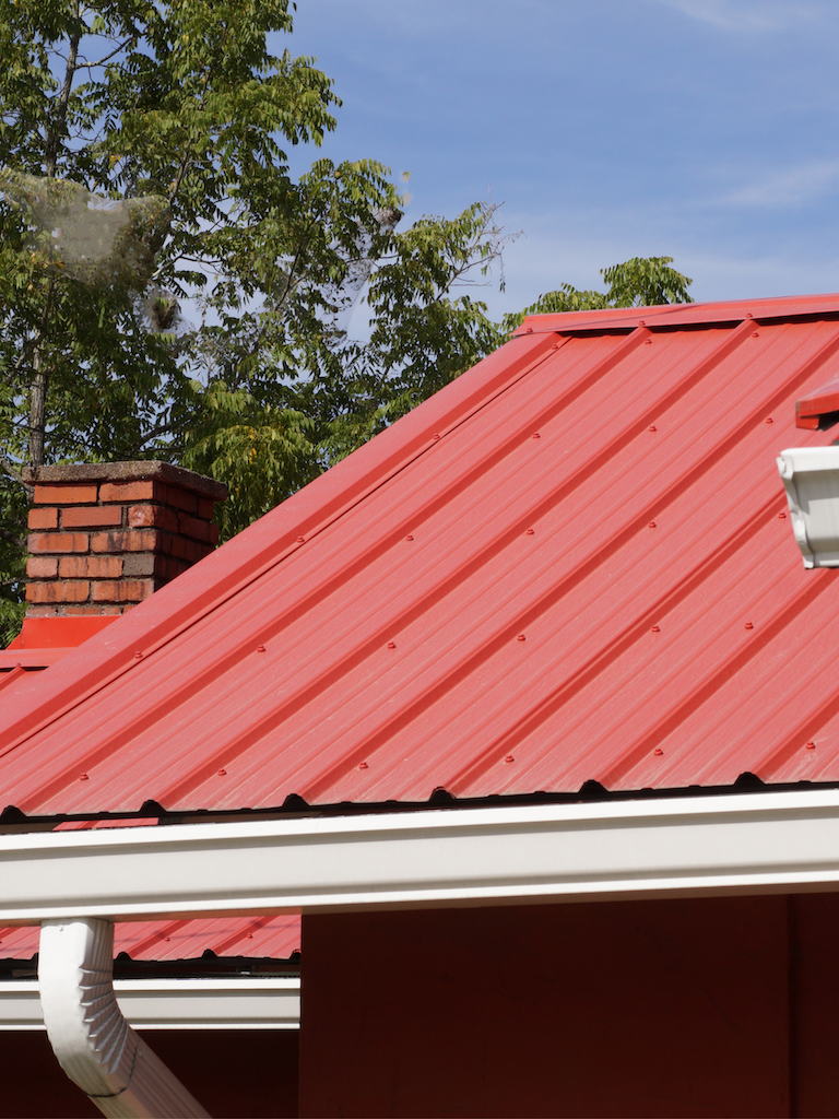 metal roofing house